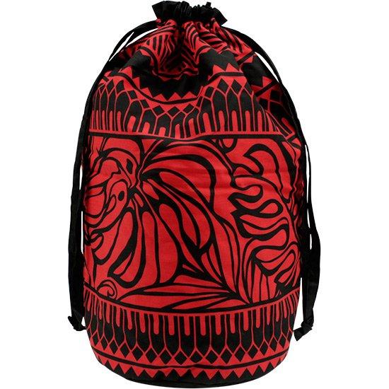 黒と赤のイプケース スタンダードタイプ モンステラ・タパ・ボーダー柄 ipucase-std-2598BKRD イプバッグ 【既製品】