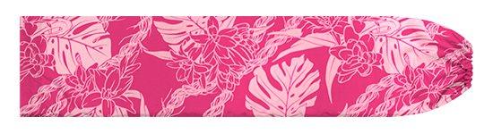 ピンクのパウスカートケース モンステラ・ピカケ・カウナオアレイ柄 pcase-2759Pi 【メール便可】★オーダーメイド