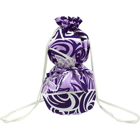 紫のイプケース リボンタイプ ティアレ柄 ipucase-rbn-2463PP イプバッグ 【既製品】