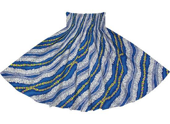 青のパウスカート ホワイトジンジャーレイ柄 spau-2760BL