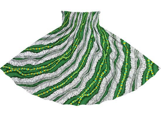 緑のパウスカート ホワイトジンジャーレイ柄 spau-2760GN