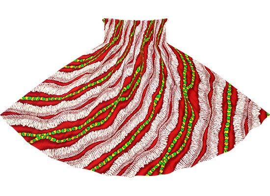 赤のパウスカート ホワイトジンジャーレイ柄 spau-2760RD