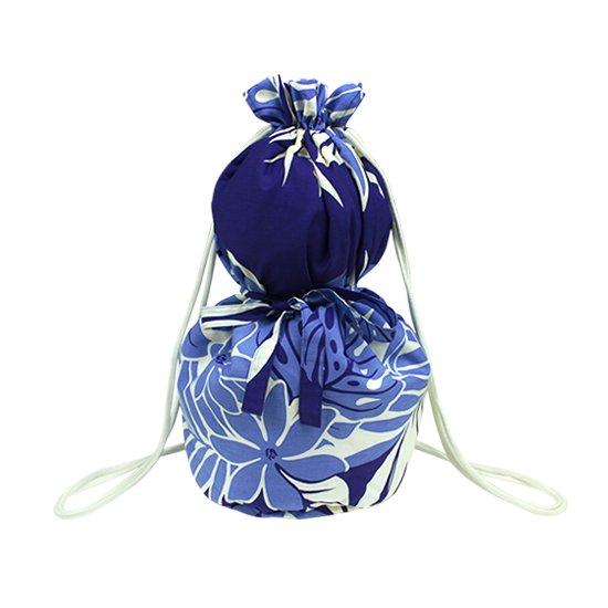 紫のイプケース リボンタイプ ティアレ・モンステラ・ヤシ柄 ipucase-rbn-2455PP イプバッグ 【既製品】