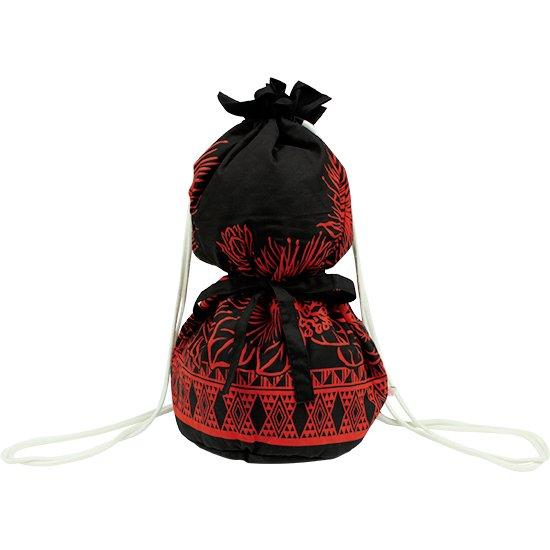 黒のイプケース リボンタイプ レフア・タパ・ボーダー柄 ipucase-rbn-2590BK イプバッグ 【既製品】
