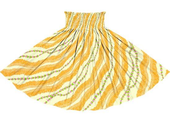クリーム色のパウスカート ホワイトジンジャーレイ柄 sprm-2760CR 75cm 4本ゴム【既製品】