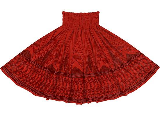 赤のパウスカート カヒコ・ボーダー柄 sprm-2761RD 75cm 4本ゴム【既製品】