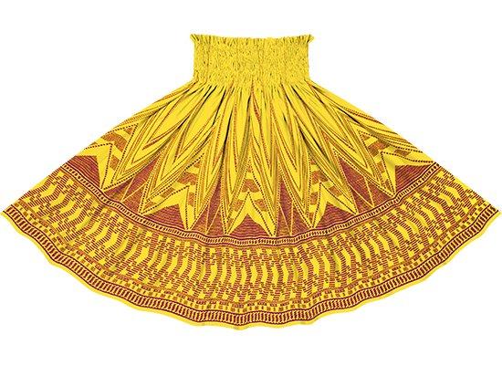 黄色のパウスカート カヒコ・ボーダー柄 sprm-2761YW 75cm 4本ゴム【既製品】