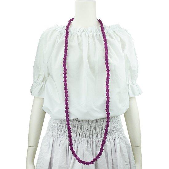 クラウンフラワーのプラスチックレイ 紫色 ロングタイプ flcrown-l-purple 【2個までメール便可】