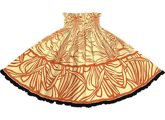 【リヒリヒパウスカート】 ベージュのパウスカート ハラ柄 lhpau-2762BG-black