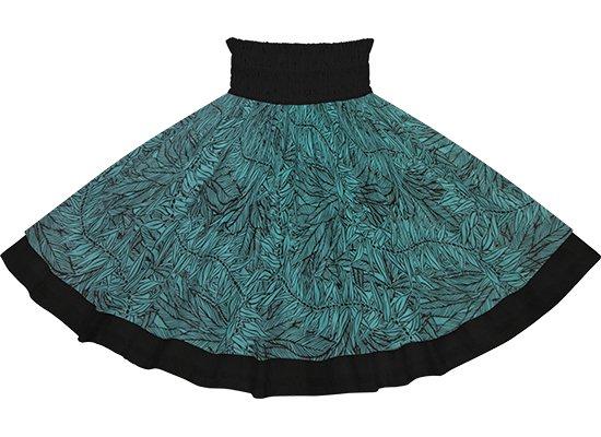 【ダブルパウスカート】青のティリーフ柄とブラックの無地 dpau-2764BL-black