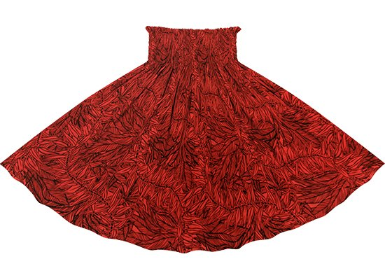 赤のパウスカート ティリーフ柄 sprm-2764RD 75cm 4本ゴム【既製品】