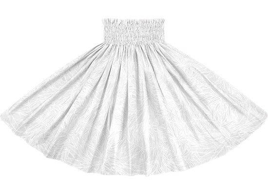 白のパウスカート ティリーフ柄 sprm-2764WH 75cm 4本ゴム【既製品】