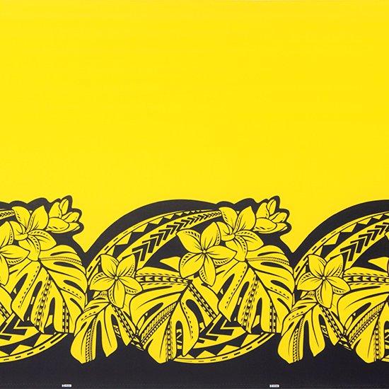 黄色のハワイアンファブリック プルメリア・モンステラ柄 fab-2765YW 【4yまでメール便可】
