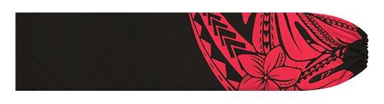 黒と赤のパウスカートケース プルメリア・モンステラ柄 pcase-2765BKRD【メール便可】★オーダーメイド