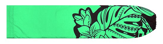 ヒスイ色のパウスカートケース プルメリア・モンステラ柄 pcase-2765JD【メール便可】★オーダーメイド