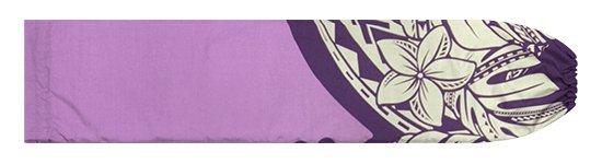 紫のパウスカートケース プルメリア・モンステラ柄 pcase-2765PP【メール便可】★オーダーメイド