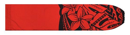 赤のパウスカートケース プルメリア・モンステラ柄 pcase-2765RD【メール便可】★オーダーメイド