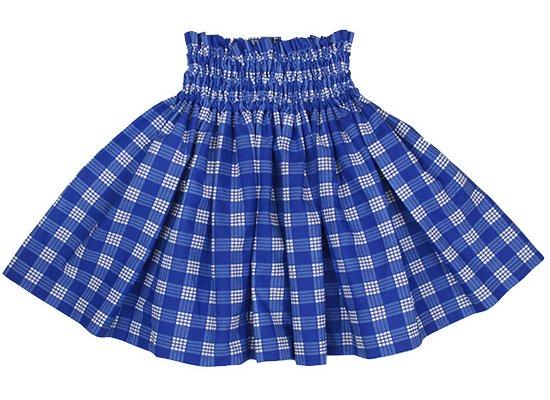 【ケイキ(子供)用】 青のパウスカート パラカ柄 kpau-2028BL 43cm 3本ゴム【既製品】