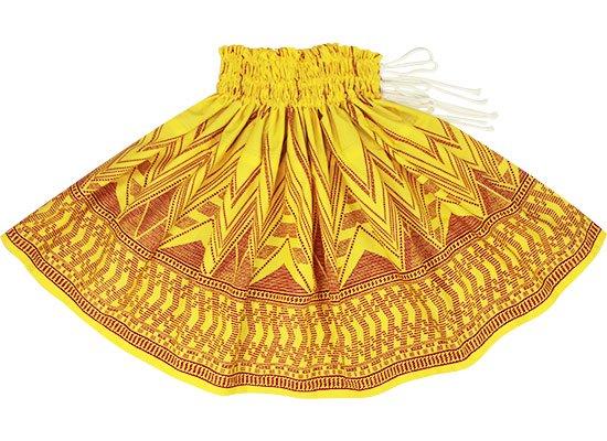 【紐パウスカート】 黄色のパウスカート カヒコ・ボーダー柄 himo-2761YW 75cm 3本紐【既製品】