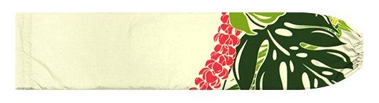 クリーム色のパウスカートケース モンステラ・プルメリア柄 pcase-2767CR【メール便可】★オーダーメイド