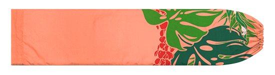 ピンクとオレンジのパウスカートケース モンステラ・プルメリア柄 pcase-2767PiOR【メール便可】★オーダーメイド【TS】
