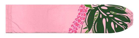 ピンクのパウスカートケース モンステラ・プルメリア柄 pcase-2767PiPi【メール便可】★オーダーメイド【TS】