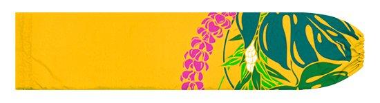 黄色のパウスカートケース モンステラ・プルメリア柄 pcase-2767YW【メール便可】★オーダーメイド