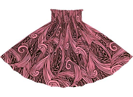 ピンクのパウスカート ウエーブ・カヒコ柄 sprm-2747Pi 75cm 4本ゴム ロック仕上げ【既製品】
