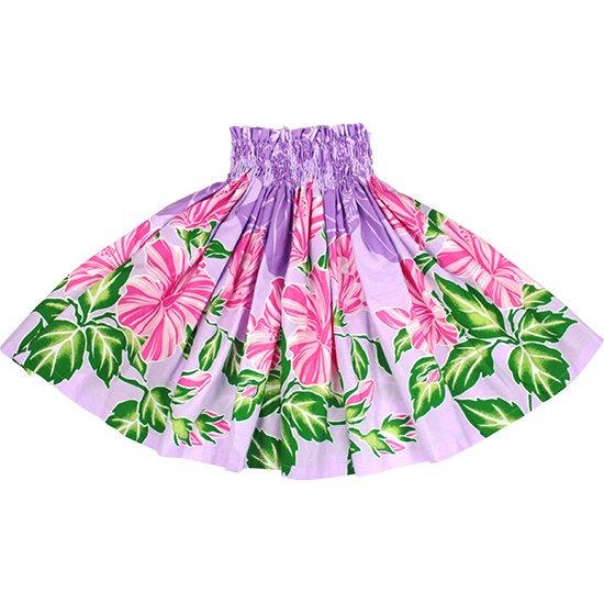 【ケイキ(子供)用】 紫のパウスカート ハイビスカス柄 kpau-2690PP 55cm 3本ゴム【既製品】