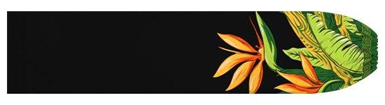 黒のパウスカートケース バードオブパラダイス柄 pcase-2726BK-M  【メール便可】 ★既製品 Mサイズ
