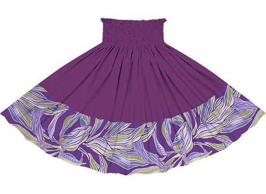 【ポエポエパウスカート】 紫のティリーフ柄とブライトパープルの無地 pppaul-2749PPLG-brightpurple