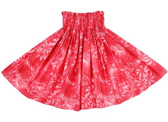 赤のパウスカート ティアレ・ヤシ・モンステラ柄 sprm-2737RD 70cm 4本ゴム【既製品】