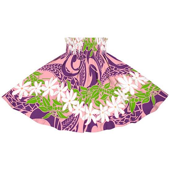 【ケイキ(子供)用】 ピンクと紫のパウスカート ティアレ・ボーダー柄 kpau-2748PiPP 55cm 3本ゴム【既製品】