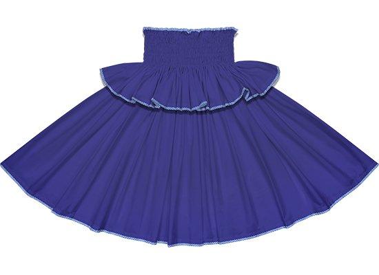 【フリルパイピングパウスカート】ナイトブルーの無地に青のパラカのパイピング fppau-ngtblue