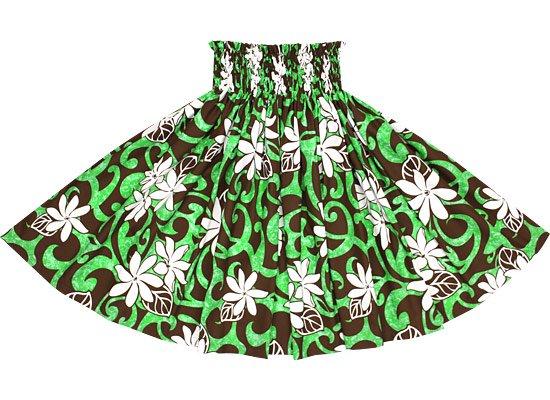 【蔵出し】緑のパウスカート ティアレ・タパ柄 spau-2548GNBR