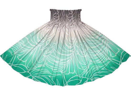 【蔵出し】緑と黒のパウスカート ヤシ・グラデーション柄 spau-2703BK-rev