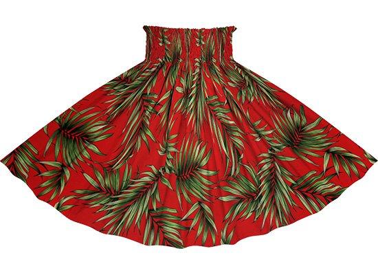 【蔵出し】赤のパウスカート ヤシ柄 spau-2729RD