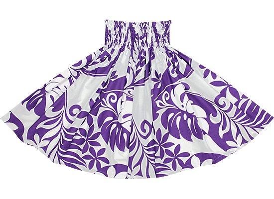 【蔵出し】紫のパウスカート ティアレ・モンステラ・ヤシ柄 2532PP