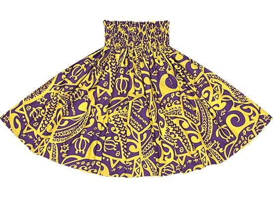 【蔵出し】紫のパウスカート ホヌ・カヒコ柄 spau-2582PPYW