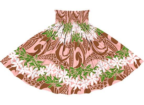 ピンクと茶色のパウスカート ティアレ・ボーダー柄 sprm-2748PiBR 80cm 3本ゴム 【既製品】