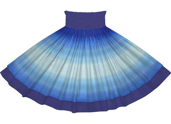 【ダブルパウスカート】水色と青のグラデーション柄とナイトブルーの無地 dpau-2270AQBL