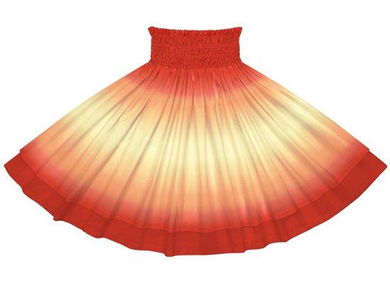 【ダブルパウスカート】クリーム色と赤のグラデーション柄とクリムゾンの無地 dpau-2270CRRD
