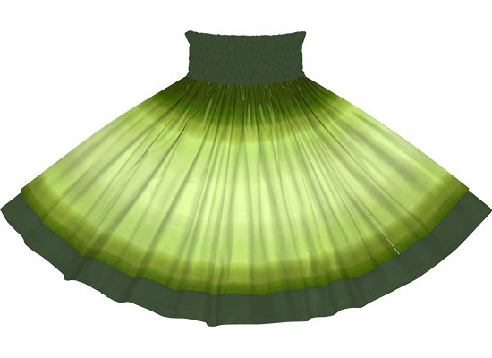 【ダブルパウスカート】きみどりと緑のグラデーション柄とモスグリーンの無地 dpau-2270LGGN