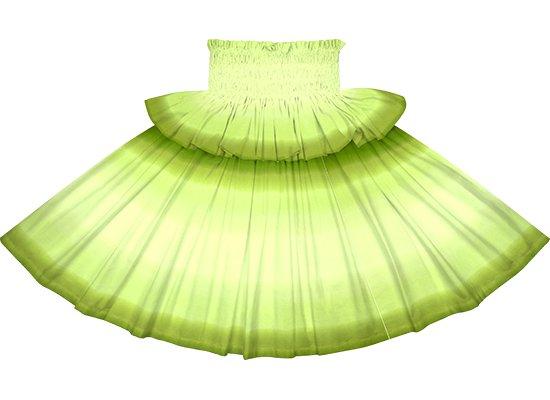 【フリルパウスカート】きみどりと緑のグラデーション柄 frpau-2270LGGN
