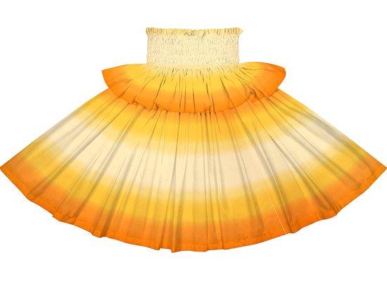 【フリルパウスカート】黄色とオレンジのグラデーション柄 frpau-2270YWOR