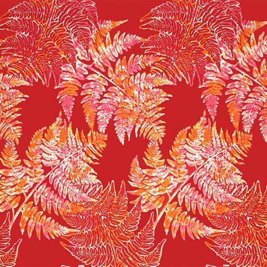 赤のハワイアンファブリック パラパライ柄 fab-2768RD 【4yまでメール便可】