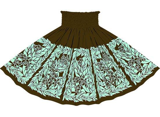 茶色のパウスカート クラウンフラワー・ティリーフレイ柄 sprm-2754BR 70cm 4本ゴム 【既製品】