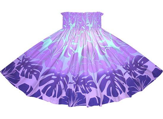 紫のパウスカート ハイビスカス・モンステラ・グラデーション柄 spau-2769PP