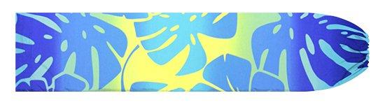 青のパウスカートケース ハイビスカス・モンステラ・グラデーション柄 pcase-2769BL【メール便可】★オーダーメイド