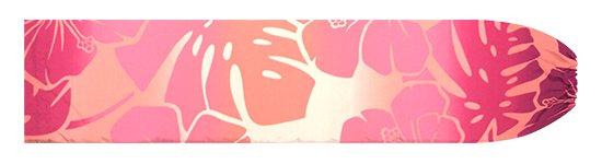 ピンクのパウスカートケース ハイビスカス・モンステラ・グラデーション柄 pcase-2769Pi【メール便可】★オーダーメイド
